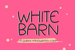 White Barn - a fun quirky handwritten font Product Image 1
