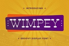 Web Font Wimpey Font Product Image 1