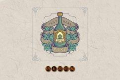 Winery Bottle Badge Vintage Label Logo Product Image 1