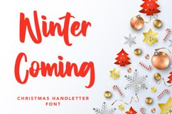 Winter Coming - Crhristmas Handletter Font Product Image 1