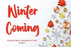Web Font Winter Coming - Crhristmas Handletter Font Product Image 1