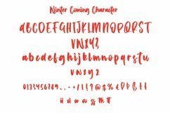 Web Font Winter Coming - Crhristmas Handletter Font Product Image 3