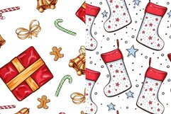 Cute Winter Christmas Seamless Patterns Collection Product Image 2
