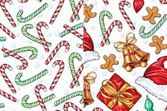 Cute Winter Christmas Seamless Patterns Collection Product Image 6