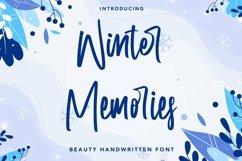 Web Font Winter Memories - Beauty Handwritten Font Product Image 1