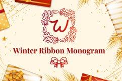 Winter Ribbon Monogram Product Image 1