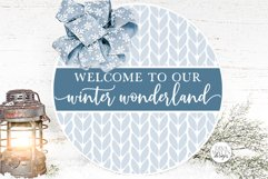 Welcome To Our Winter Wonderland SVG   Christmas Round Desig Product Image 1