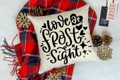 Winter Quotes SVG Love At Frost Sight Product Image 1