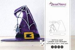 Witch Hat Laser Cut Design | Halloween Laser Cut SVG Product Image 1