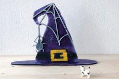 Witch Hat Laser Cut Design | Halloween Laser Cut SVG Product Image 2