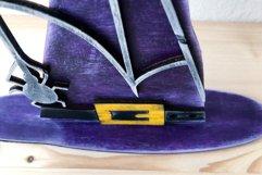 Witch Hat Laser Cut Design | Halloween Laser Cut SVG Product Image 3