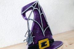 Witch Hat Laser Cut Design | Halloween Laser Cut SVG Product Image 4