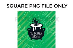 Witches Brew Car Coaster Sublimation for Halloween Product Image 2