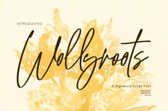 Wollyroots Signature Script Font Product Image 1