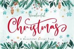 Wonderful Christmas | A Beautiful Christmas Script Font Product Image 1