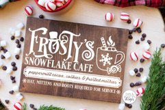 Frosty's Snowflake Cafe SVG | Christmas / Winter Design Product Image 6