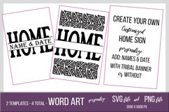 Personalized Tribal Home Sign - PNG and SVG Template Product Image 1