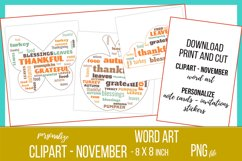Word Clouds - Word Art - November Clipart Product Image 2