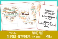 Word Clouds - Word Art - November Clipart Product Image 3