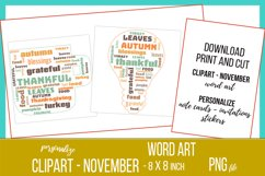 Word Clouds - Word Art - November Clipart Product Image 4