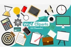 Work Clip arts, Work setting PNG Elements Product Image 1