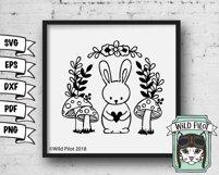 Bunny Rabbit SVG File, Easter SVG File, Woodland Animal SVG Product Image 2