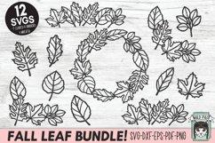 Fall Leaves SVG File, Autumn Leaf SVG, Monogram Frame SVG Product Image 1