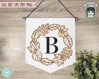 Fall Leaves SVG File, Autumn Leaf SVG, Monogram Frame SVG Product Image 5