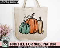 Pumpkins Sublimation design PNG, Thanksgiving, Fall, Autumn Product Image 2