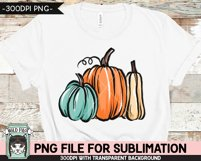 Pumpkins Sublimation design PNG, Thanksgiving, Fall, Autumn Product Image 3
