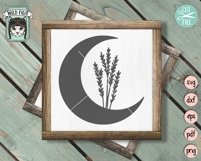 Moon Leaves SVG Cut File, Moon Flowers SVG, Moon Floral SVG Product Image 2