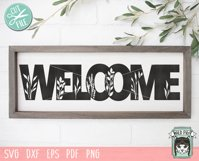 Welcome Sign SVG Cut File, Home Sign SVG, Farmhouse Sign SVG Product Image 2