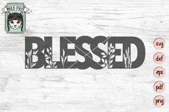 Blessed SVG Cut File, Home Sign SVG File, Farmhouse Sign SVG Product Image 1