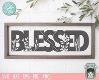 Blessed SVG Cut File, Home Sign SVG File, Farmhouse Sign SVG Product Image 2