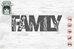 Family SVG Cut File, Home Sign SVG File, Farmhouse Sign SVG Product Image 1