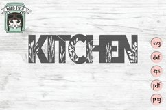 Kitchen SVG Cut File, Home Sign SVG File, Farmhouse Sign SVG Product Image 1