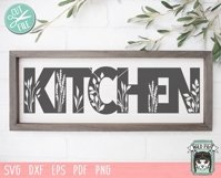 Kitchen SVG Cut File, Home Sign SVG File, Farmhouse Sign SVG Product Image 2