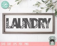 Laundry SVG Cut File, Home Sign SVG File, Farmhouse Sign SVG Product Image 2