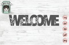 Welcome Sign SVG Cut File, Home Sign SVG, Farmhouse Sign SVG Product Image 1