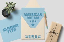 America - USA 4th of july Nation Day Classic Display font Product Image 5