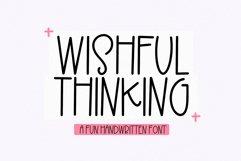 Wishful Thinking - A Fun Handwritten Font Product Image 1