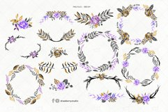 Watercolor Goth Wreath Floral Clipart  Drawberry CP066 Product Image 2