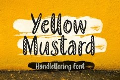 Web Font Yellow Mustard - Handlettering Font Product Image 1