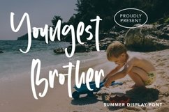 Web Font Youngest Brother - Summer Display Font Product Image 1