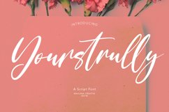 Yourstrully Script Font Product Image 1
