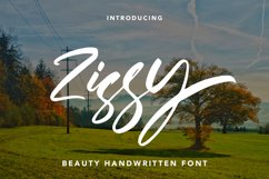 Zissy - Handwritten Font Product Image 1