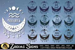 Zodiac Signs SVG Bundle Celestial SVG Astrology Horoscope Product Image 2