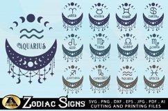 Zodiac Signs SVG Bundle Celestial SVG Astrology Horoscope Product Image 3