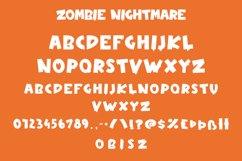 Zombie Nightmare - Halloween Display Font Product Image 5