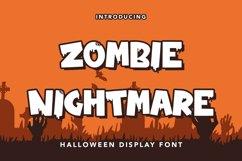Zombie Nightmare - Halloween Display Font Product Image 1